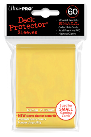 Ultra Pro Yellow Sleeves Small