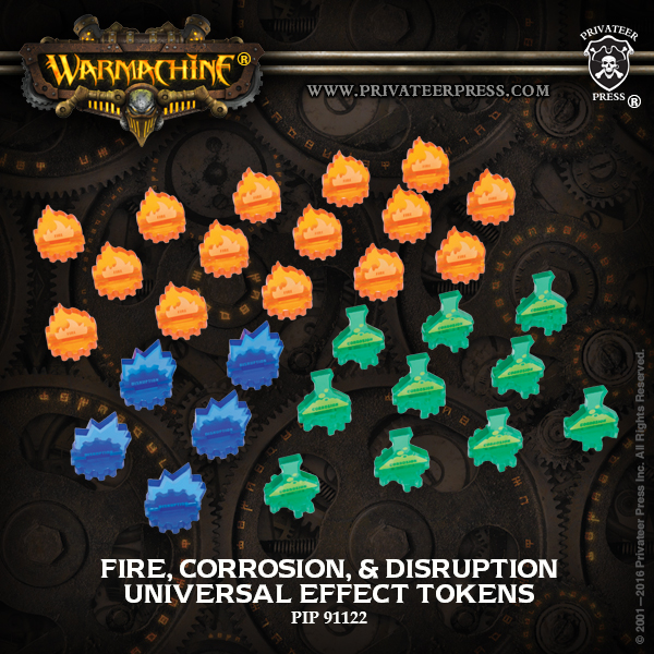91122 Universal Effect Tokens Fire, Corrosion, Disruption