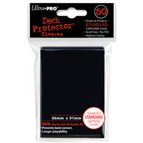Ultra Pro Black Sleeves Standard