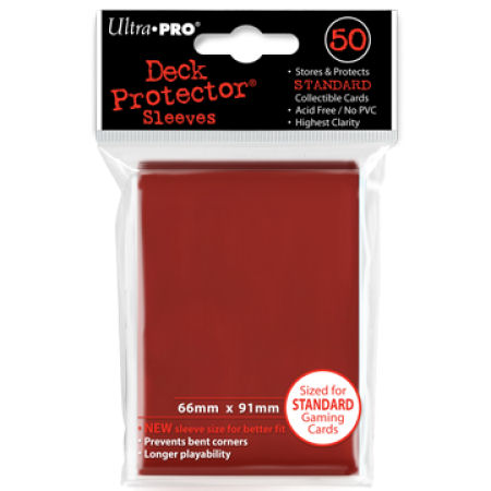 Ultra Pro Red Sleeves Standard