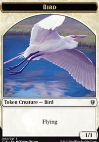Bird (White) // Saproling Double-sided Token