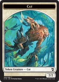 Cat // Soldier Double-sided Token