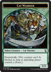 Cat Warrior // Elemental Double-sided Token