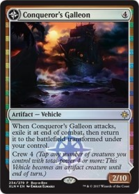Conqueror's Galleon / Conqueror's Foothold - Alt Art Promo