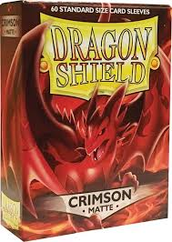 Dragon Shield Crimson Matte Sleeves Standard Size x 100