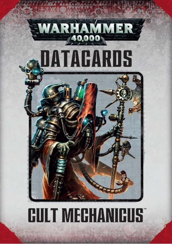 Datacards Cult Mechanicus (7th Edition)
