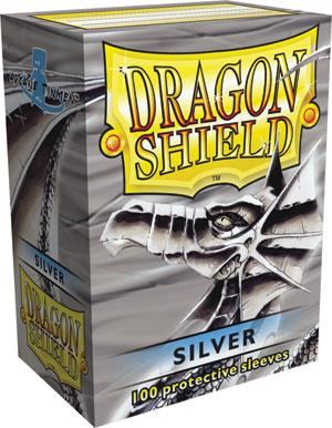 Dragon Shield Silver Matte Sleeves Standard x 100