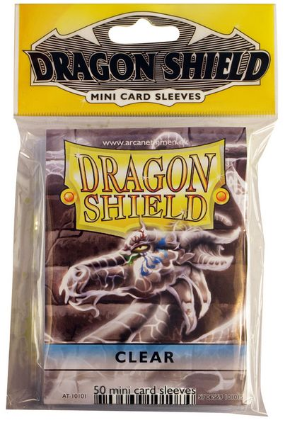 Dragon Shield: 50 Sleeves - Clear (Mini Size)