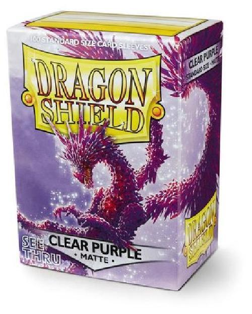 Dragon Shield Clear Purple Matte Standard x 100