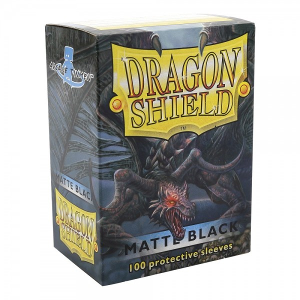 Dragon Shield Matte Black Sleeves Standard Size x100