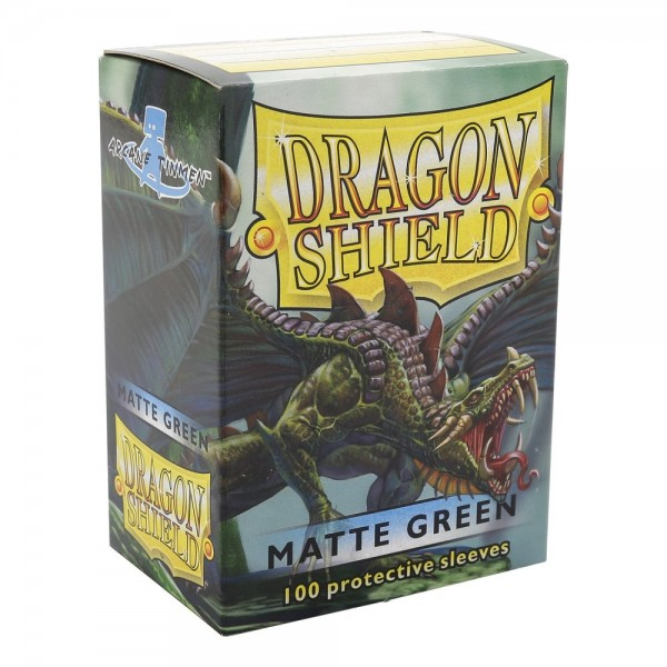 Dragon Shield Matte Green Sleeves Standard Size x100