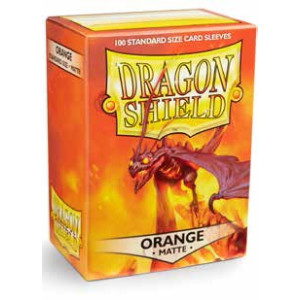 Dragon Shield Matte Orange Sleeves