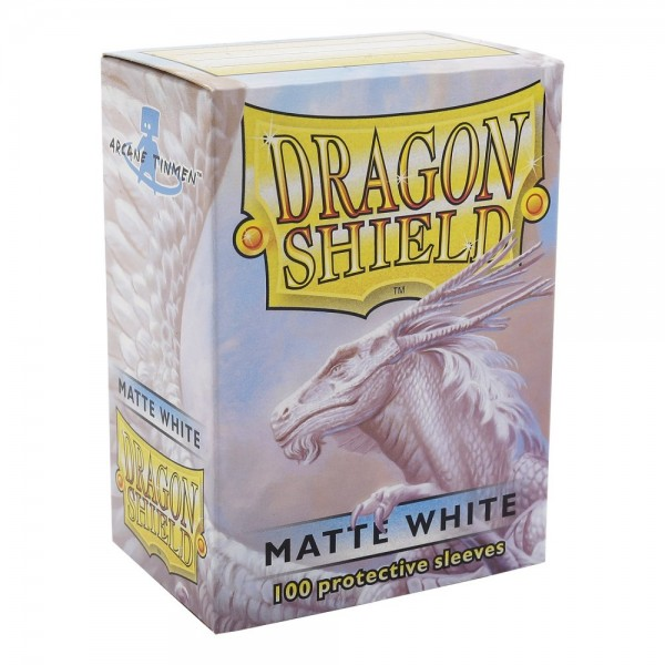 Dragon Shield Matte White Sleeves