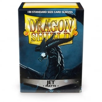 Dragon Shield Jet Matte Sleeves Standard Size x 100