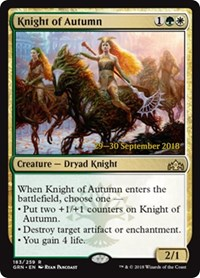Knight of Autumn - Prerelease Promo