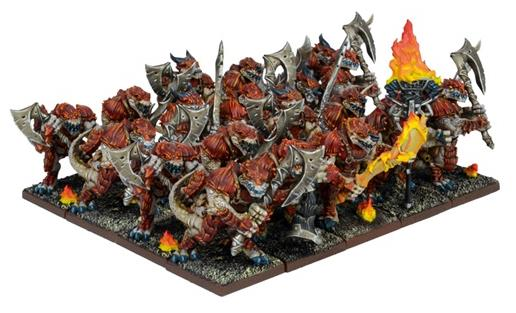Kings of War Forces of Nature Salamander Regiment