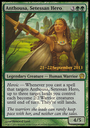 Anthousa Setessan Hero - Theros Prerelease Promo
