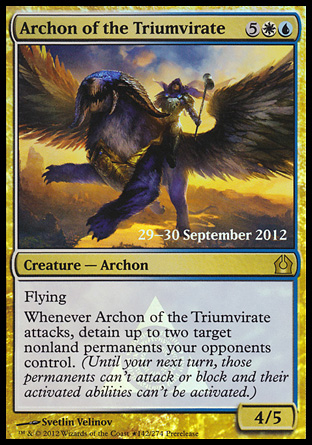 Archon of the Triumvirate - Return to Ravnica Prerelease Promo