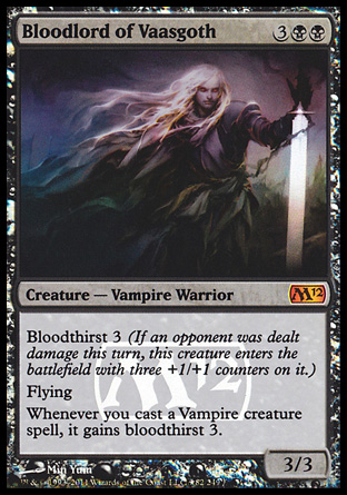 Bloodlord of Vaasgoth - Magic 2012 Prerelease Promo