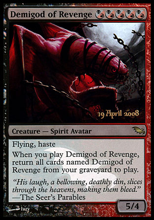 Demigod of Revenge - Shadowmoor Prerelease Promo