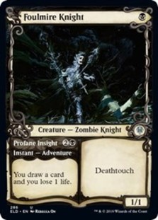Foulmire Knight // Profane Insight (Showcase Foil)