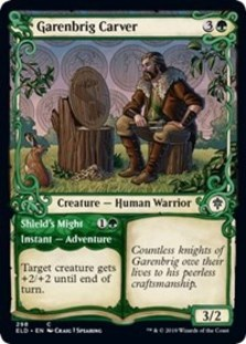 Garenbrig Carver // Shield's Might (Showcase Foil)