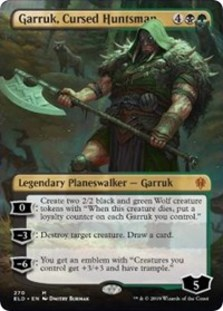 Garruk, Cursed Huntsman (Borderless Foil)