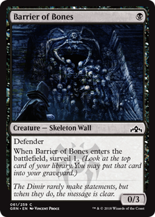 Barrier of Bones (Foil)