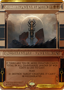 Avatar of Woe - Amonkhet Invocation
