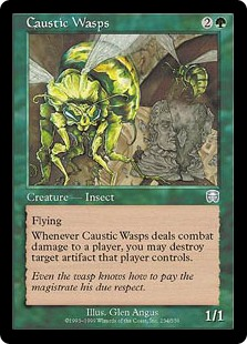 Caustic Wasps (Foil)