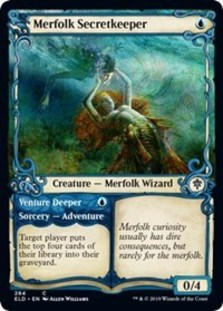 Merfolk Secretkeeper // Venture Deeper (Showcase Foil)