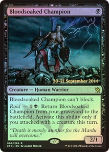 Bloodsoaked Champion - Khans of Tarkir Prerelease Promo