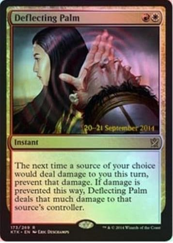 Deflecting Palm - Khans of Tarkir Prerelease Promo