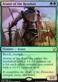 Avatar of the Resolute - Dragons of Tarkir Prerelease Promo
