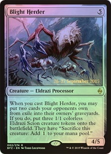 Blight Herder - Battle for Zendikar Prerelease Promo