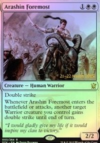 Arashin Foremost - Dragons of Tarkir Prerelease Promo