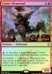 Crater Elemental - Dragons of Tarkir Prerelease Promo