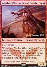 Alesha, Who Smiles at Death - Fate Reforged Prerelease Promo