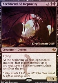 Archfiend of Depravity - Fate Reforged Prerelease Promo