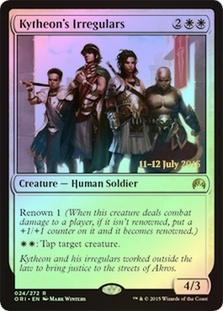 Kytheon's Irregulars - Origins Prerelease Promo