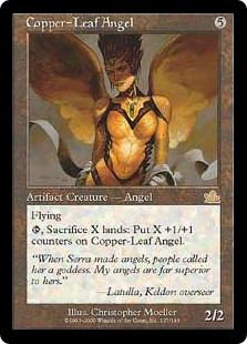 Copper-Leaf Angel