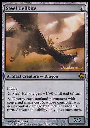 Steel Hellkite - Scars of Mirrodin Launch Party Promo