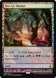 Fire-Lit Thicket - Zendikar Expedition
