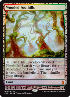 Wooded Foothills - Zendikar Expedition