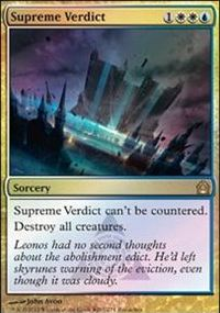 Supreme Verdict - Return to Ravnica Buy-a-Box Promo