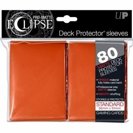 Pro Matte Eclipse Orange Standard Sleeves