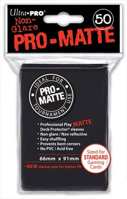 Ultra Pro Matte Black Sleeves Standard