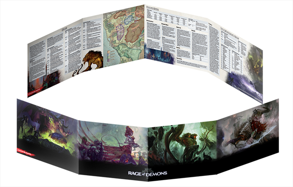 D&D Rage of Demons DM Screen