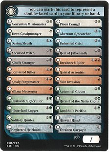 Checklist Card 1 Commons and Uncommons - Shadows Over Innistrad
