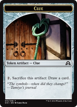 Clue Token (15) - Shadows Over Innistrad